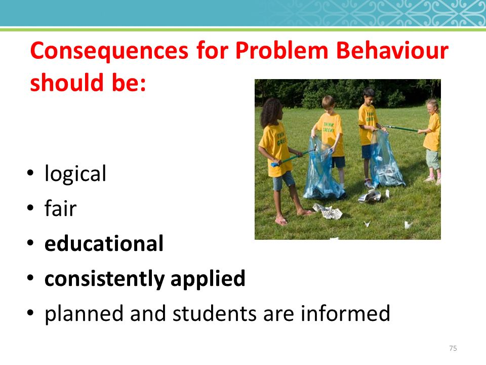 behaviour problems that should be referred Child and adolescent behavior problems it is expected that children and adolescents will, at some point, have behaviors that are defiant, challenging and problematic.