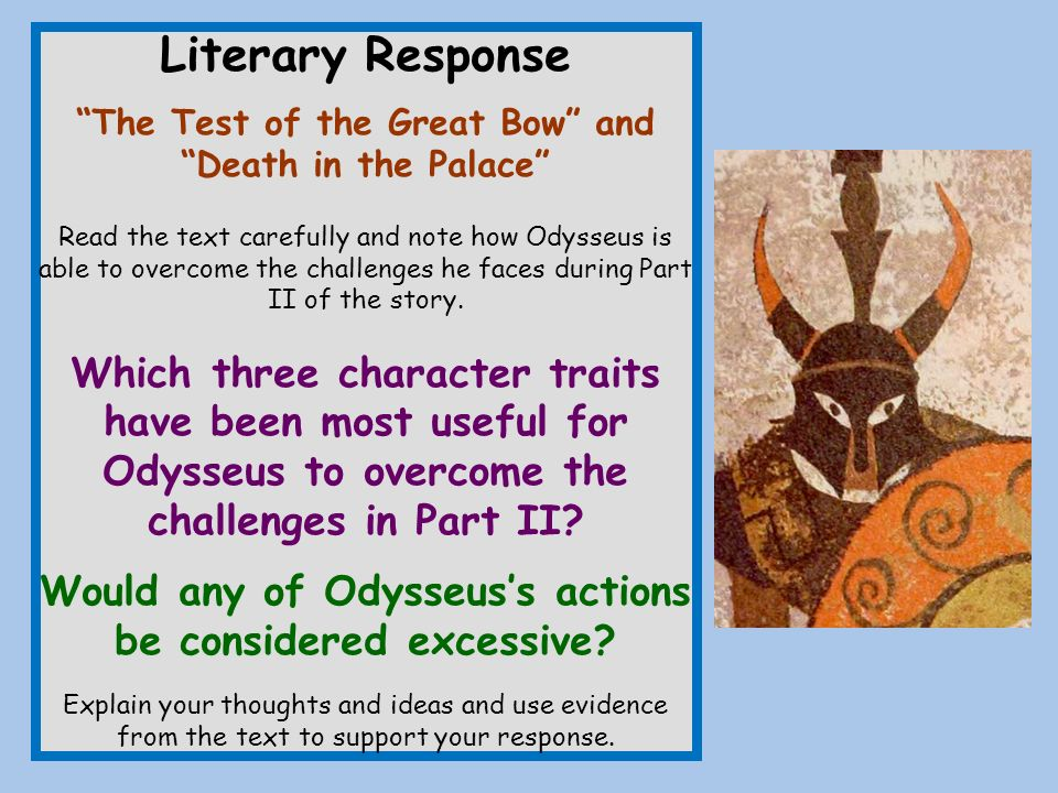 essay on odysseus character traits Odysseus traits essay or any similar topic specifically for you odysseus shows his second good leader trait, physical-strength in many examples one example of showing odysseus' physical-strength is when he pierces the cyclops eye with his men using the sharpened tree trunk.