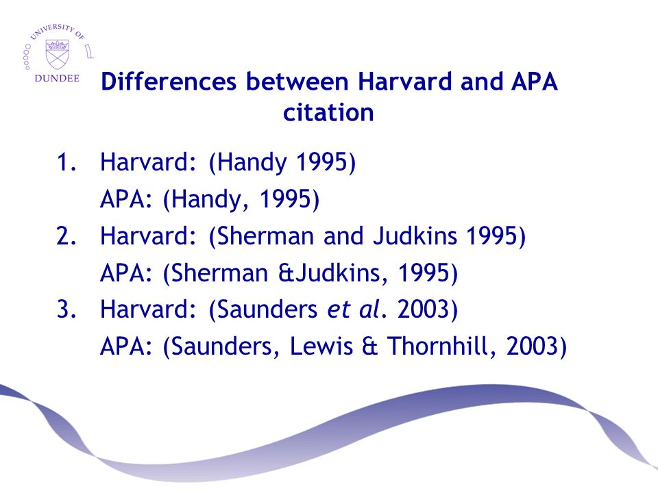 harvard and apa style differences A free harvard-style reference generator tool just type in the author, title, etc and out pops your harvard-style references ready to include in your essay or report.