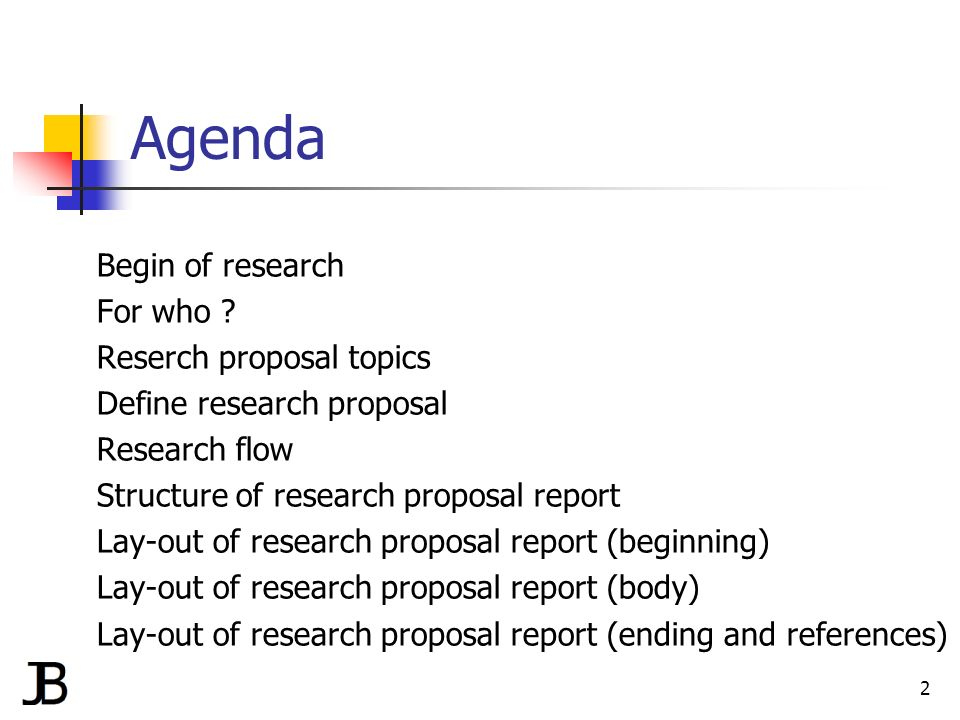 How to write a great research proposal