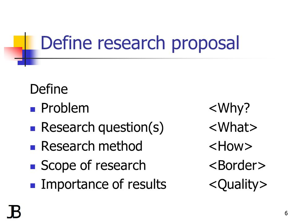 Importance Of Research Proposal
