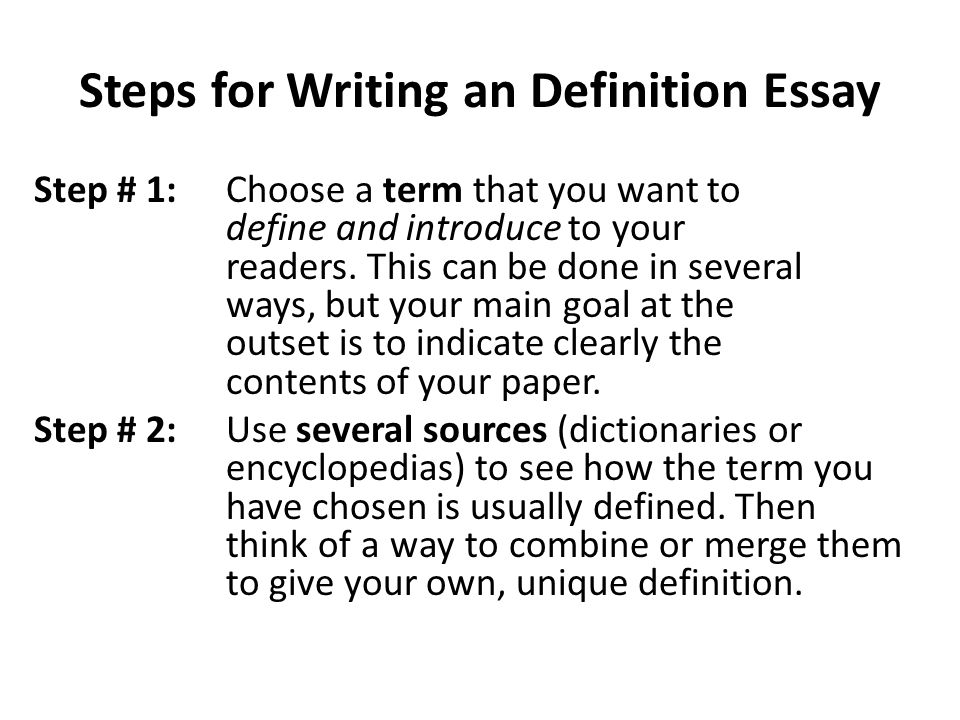 lecture definition essay ppt video online  steps for writing an definition essay
