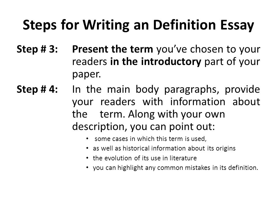 In paper steps term writing