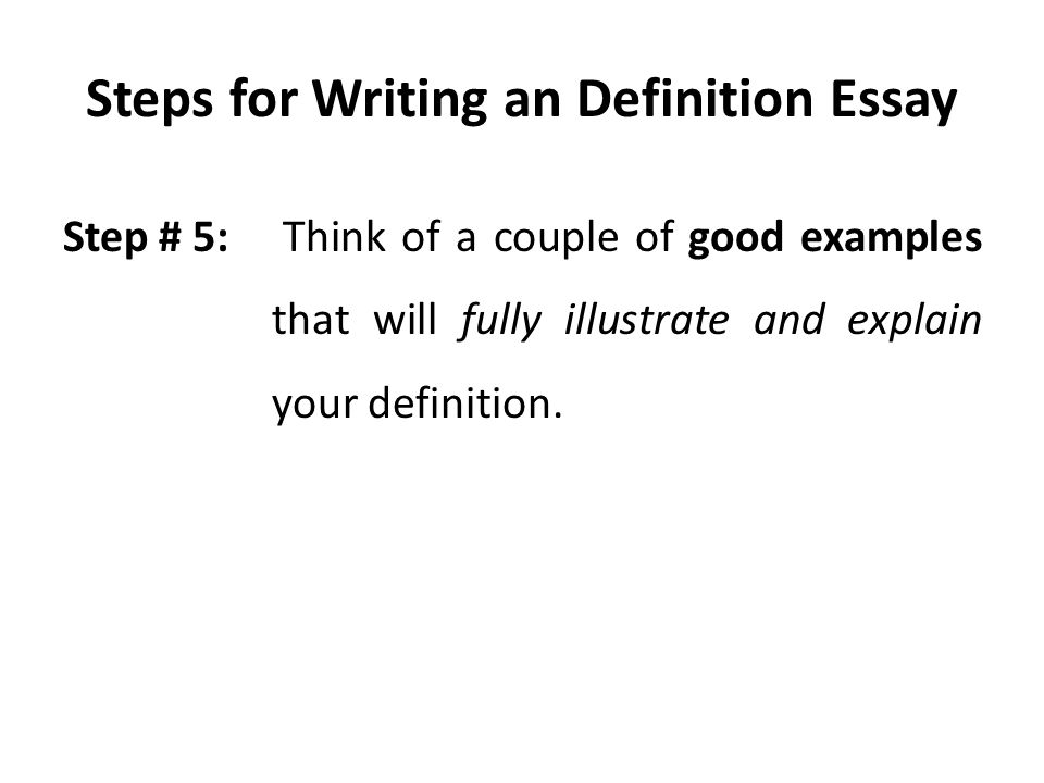 writing a definition essay examples Аind some practical abstract examples to land yourself an a+  in a simple essay,  if you are writing an abstract for a thesis,.