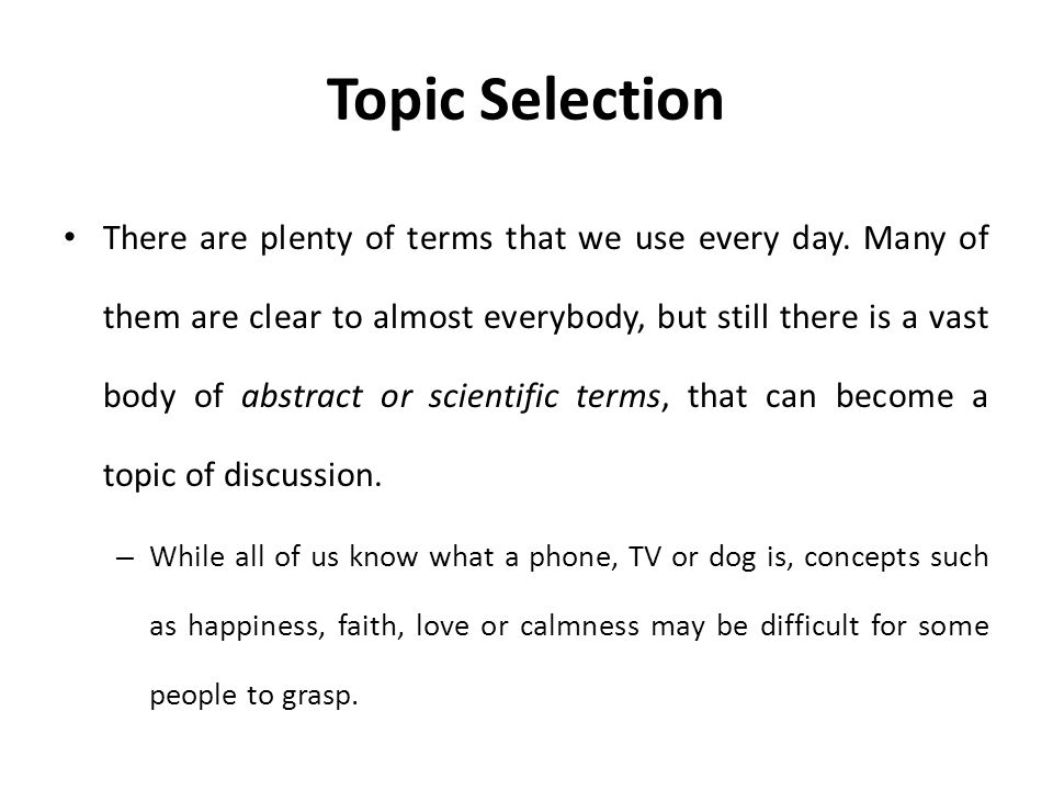 lecture definition essay ppt video online  8 topic selection