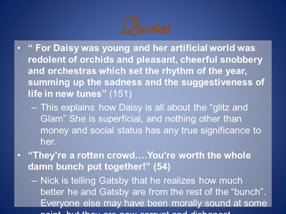Morality, Superficiality and Dishonesty in The Great Gatsby Essay