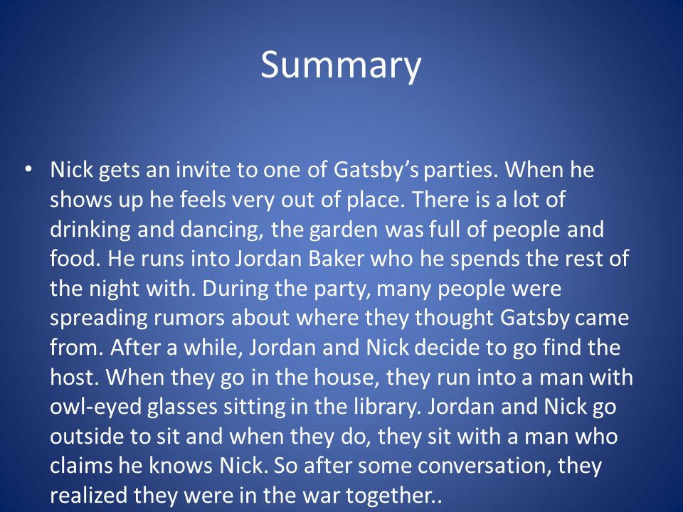 the great gatsby pdf chapter 2
