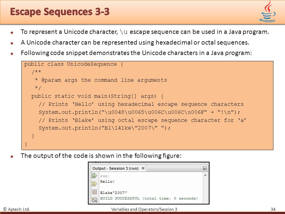 Escaping Characters In Java - fasrswiss