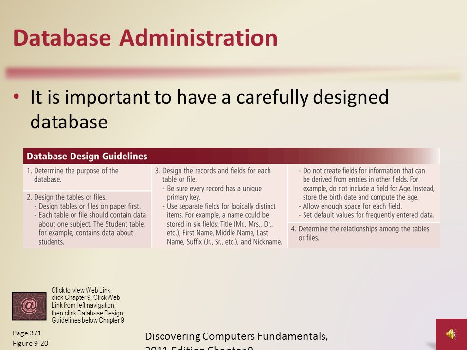 database administration - Database Design Guidelines