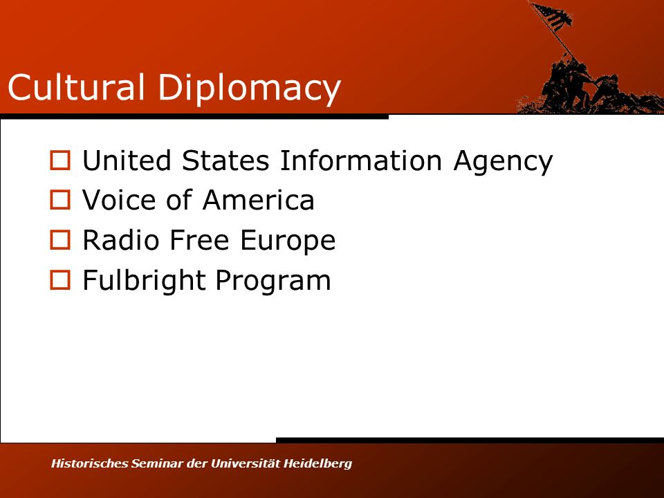 Cultural Diplomacy United States Information Agency Voice of America