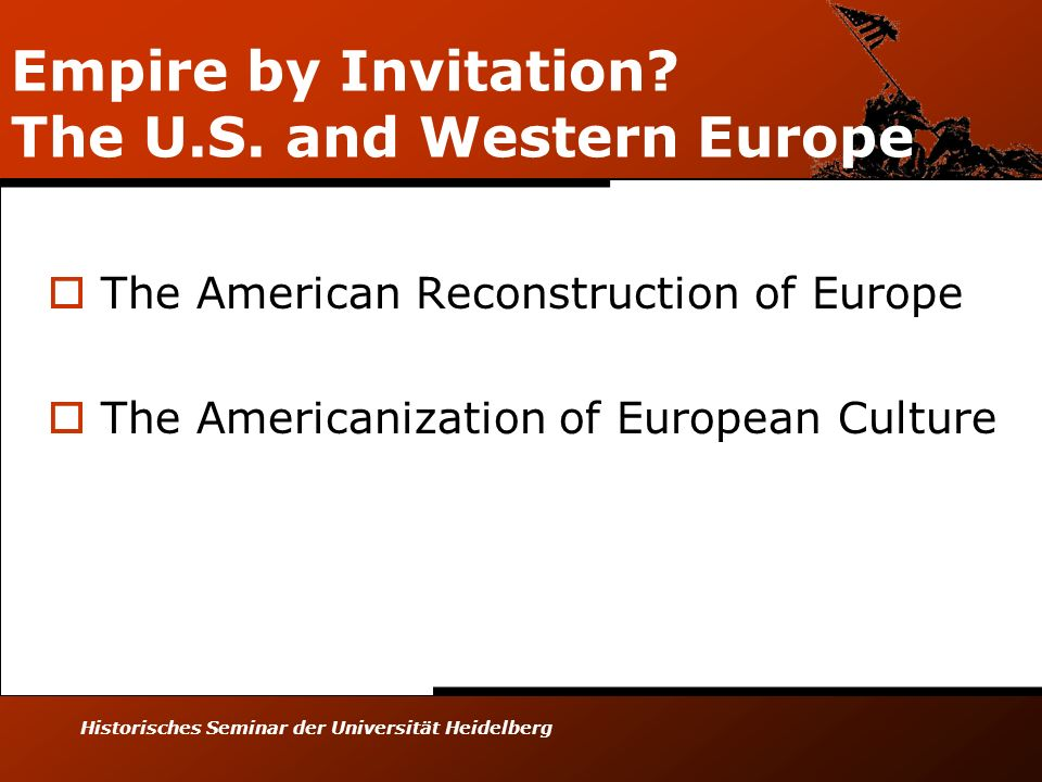 Empire by Invitation The U.S. and Western Europe