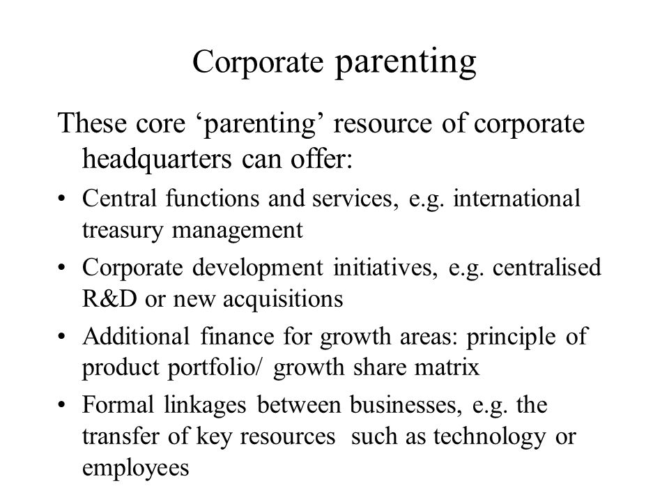 corporate parenting This action plan sets out what we will undertake up to april 2018 in order to fulfil our statutory duties as a corporate parent, under the children and young.