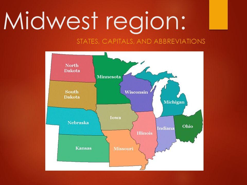 States Capitals And Abbreviations