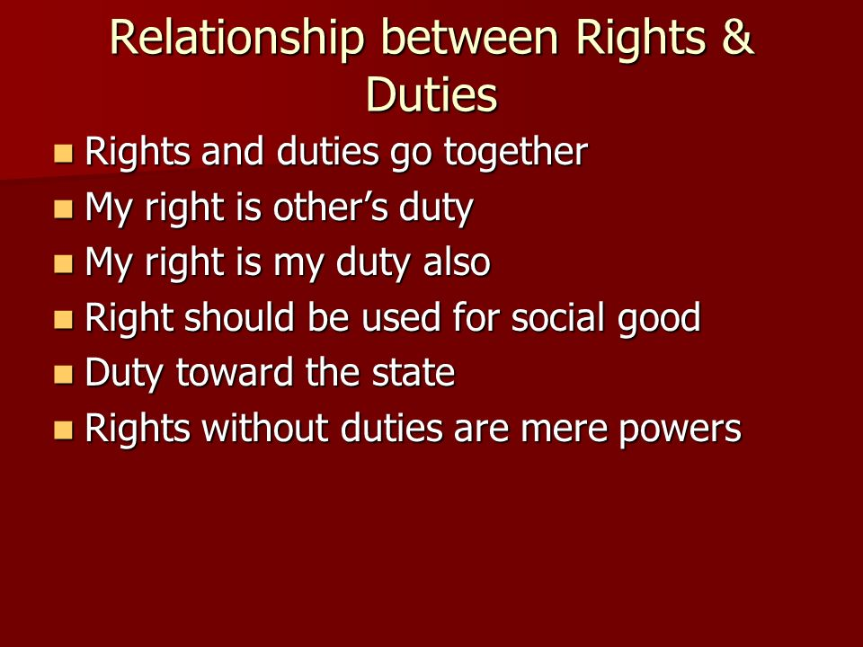 relationship between obligation and right