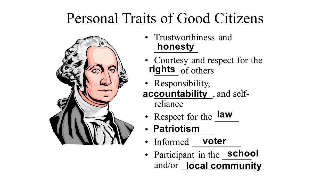 Personal Traits of Good Citizens