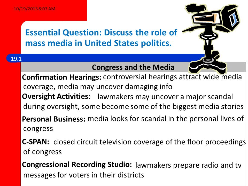 Analyzing the Media's Role in the Political Process