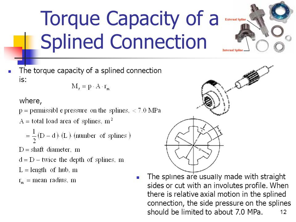 Torque Capacity of a Splined Connection