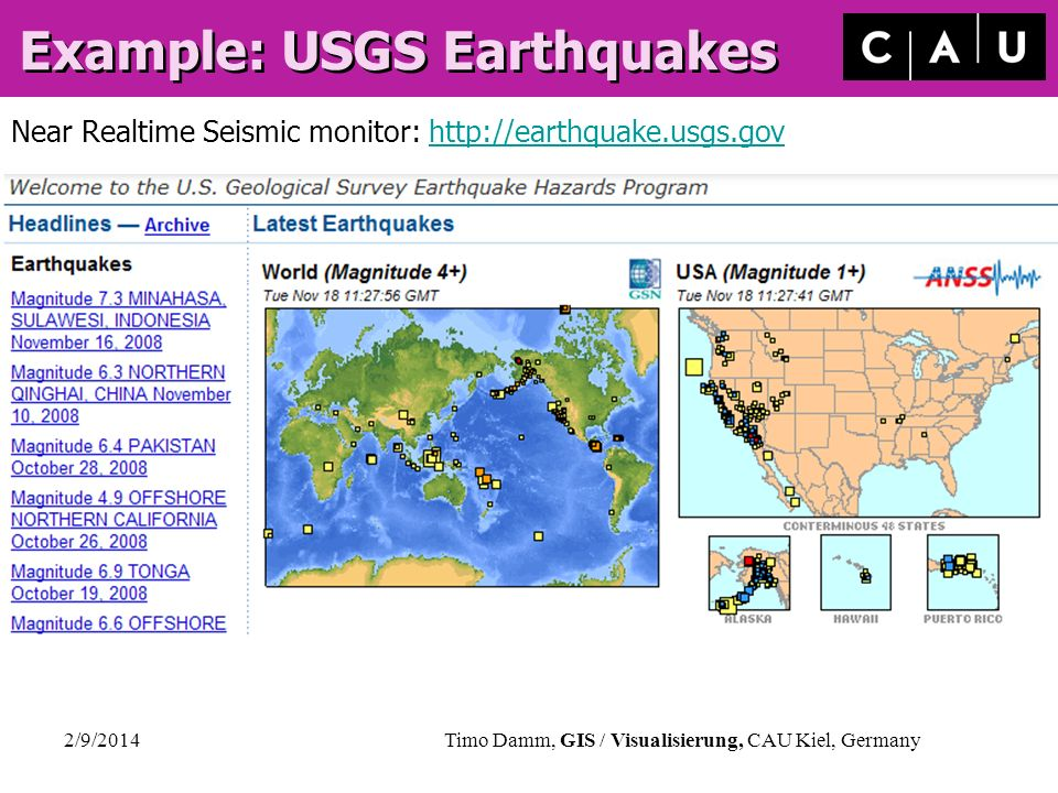 Example: USGS Earthquakes