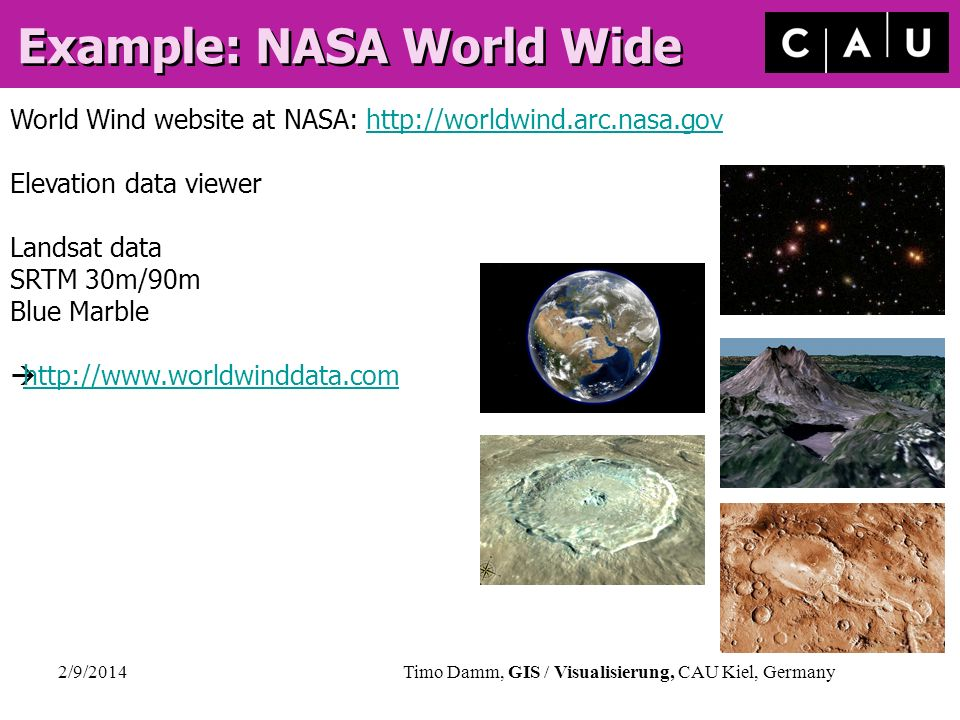 Example: NASA World Wide