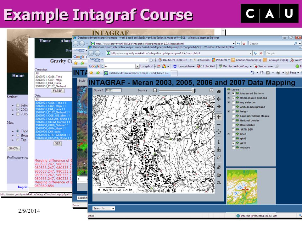 Example Intagraf Course
