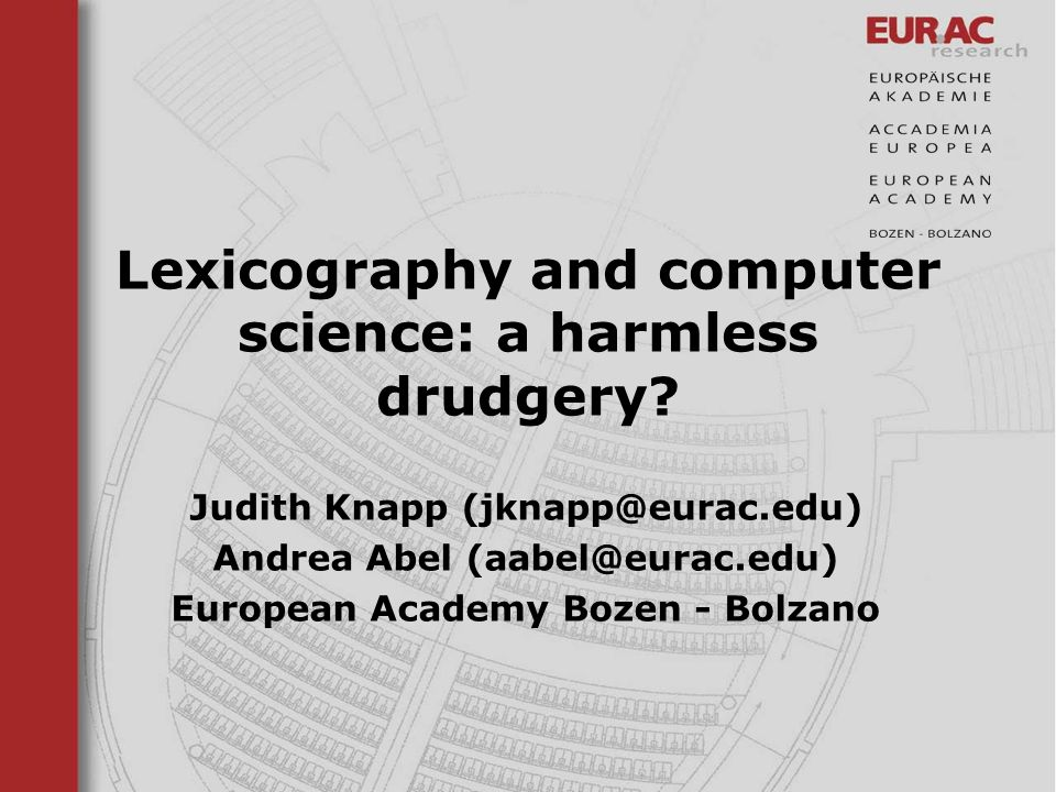 Lexicography and computer science: a harmless drudgery
