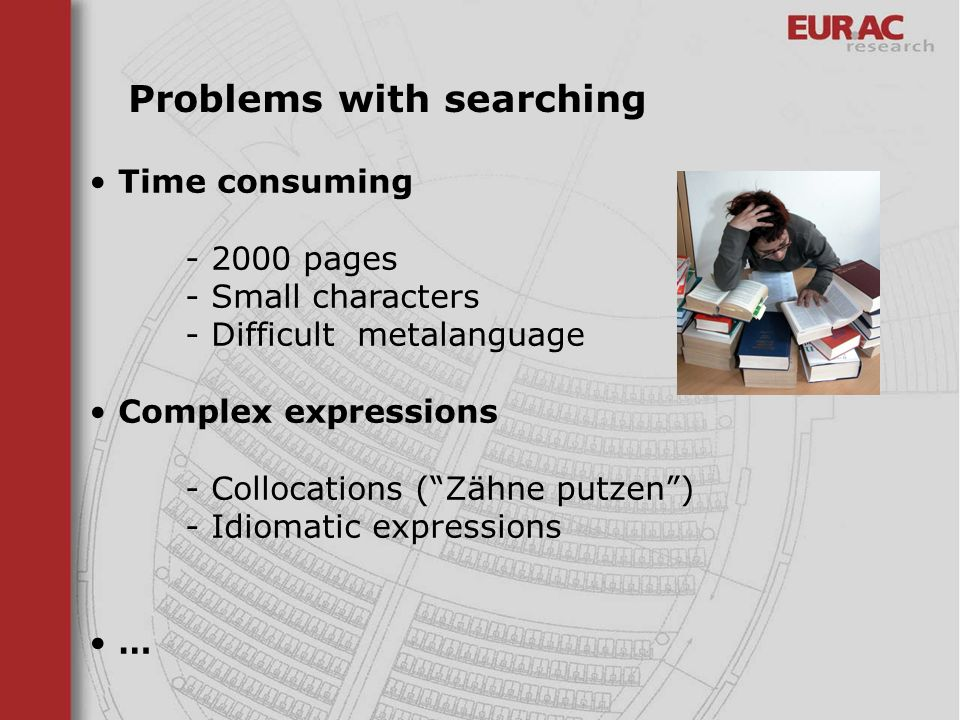 Problems with searching