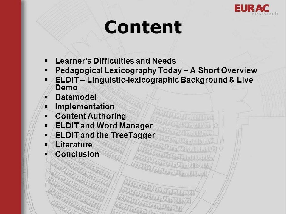 Content Learner's Difficulties and Needs