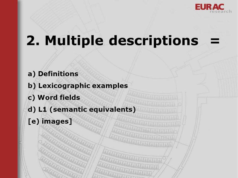 2. Multiple descriptions =