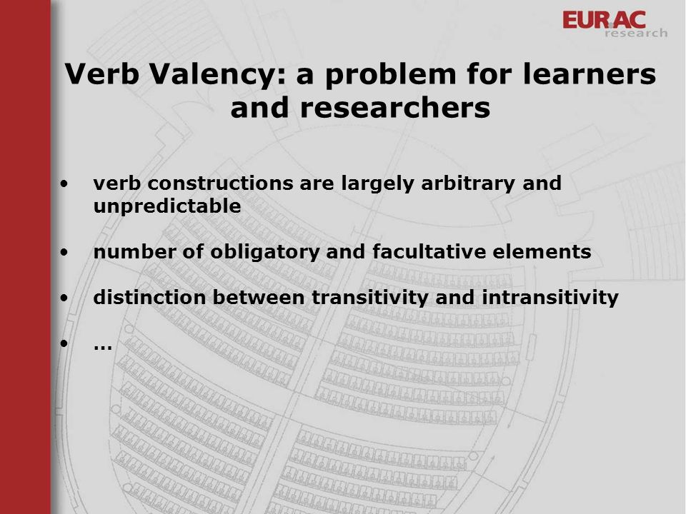 Verb Valency: a problem for learners and researchers