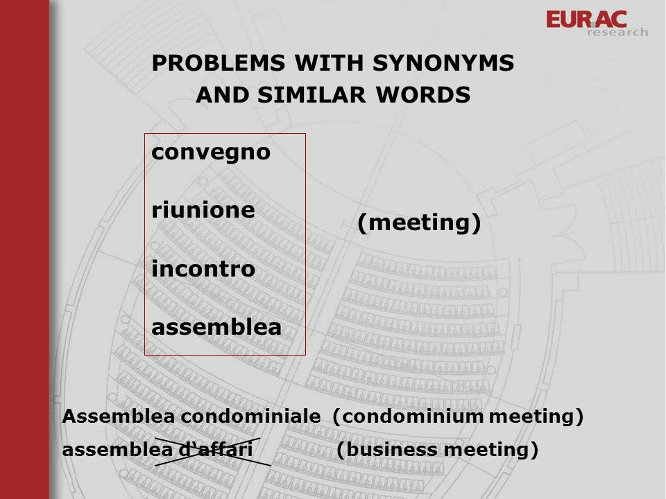 PROBLEMS WITH SYNONYMS