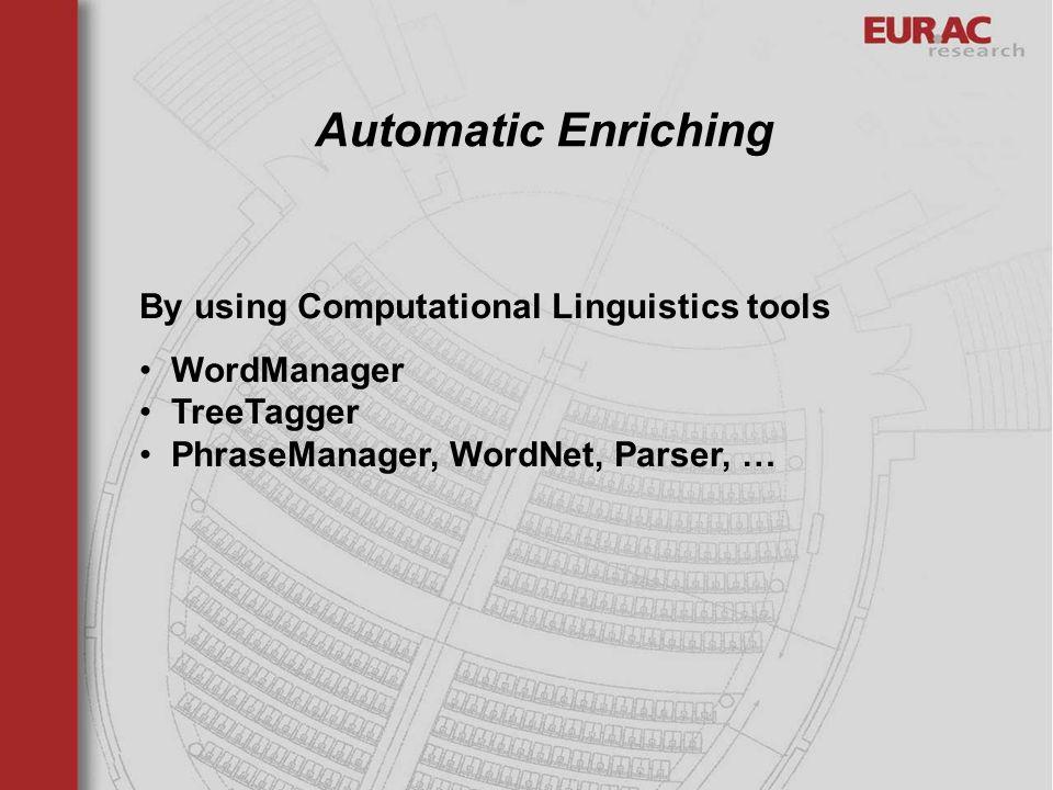 Automatic Enriching By using Computational Linguistics tools