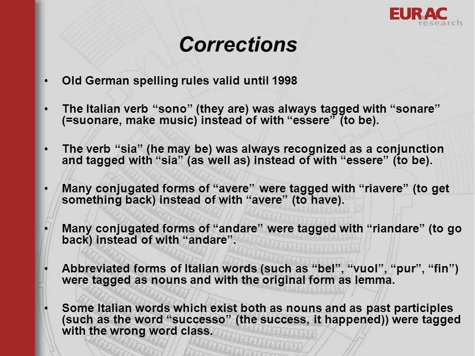Corrections Old German spelling rules valid until 1998