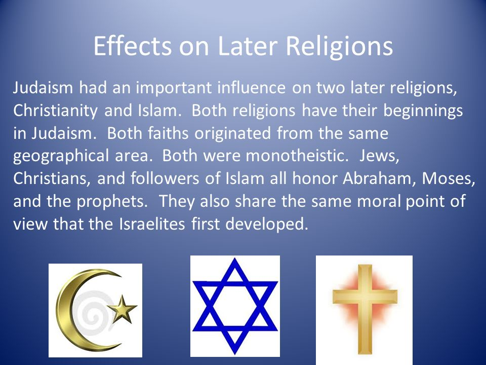 influence of christianity and islam on Islam thus shows to be very influential and involved in politics the next major influence that islam has had on its own country and that of others is the architecture of this religion the most recognized building in the religion of islam is the mosque.