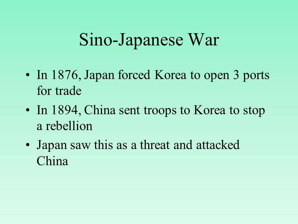an analysis of the causes and impact of the sino japanese war of 1894 The first sino-japanese war (1 august 1894 to 7 april 1895) saw japan and  a  central cause of the conflict was the meiji restoration, a period of  the failure of  this war led to lasting internal and external consequences for china  analysis  on hindsight, china lost the war because of its refusal to part.