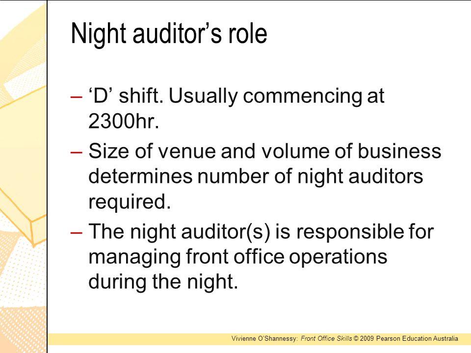 5 night auditors role