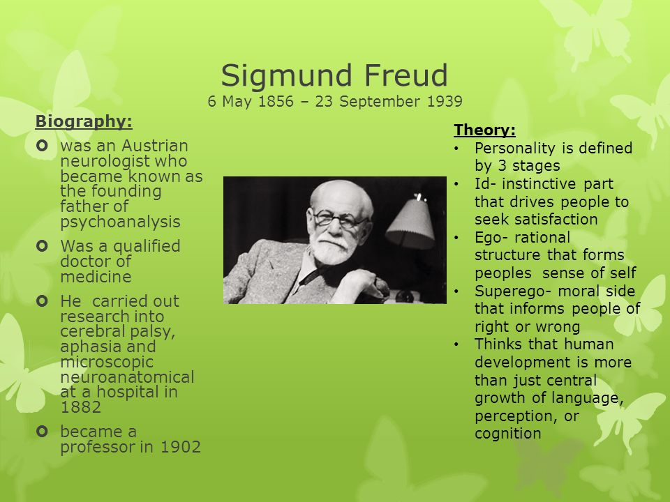 the early life and theories of australian physician and neurologist sigmund freud The national psychological association for psychoanalysis  1890s by austrian neurologist sigmund freud and stemmed partly from  early life and career.