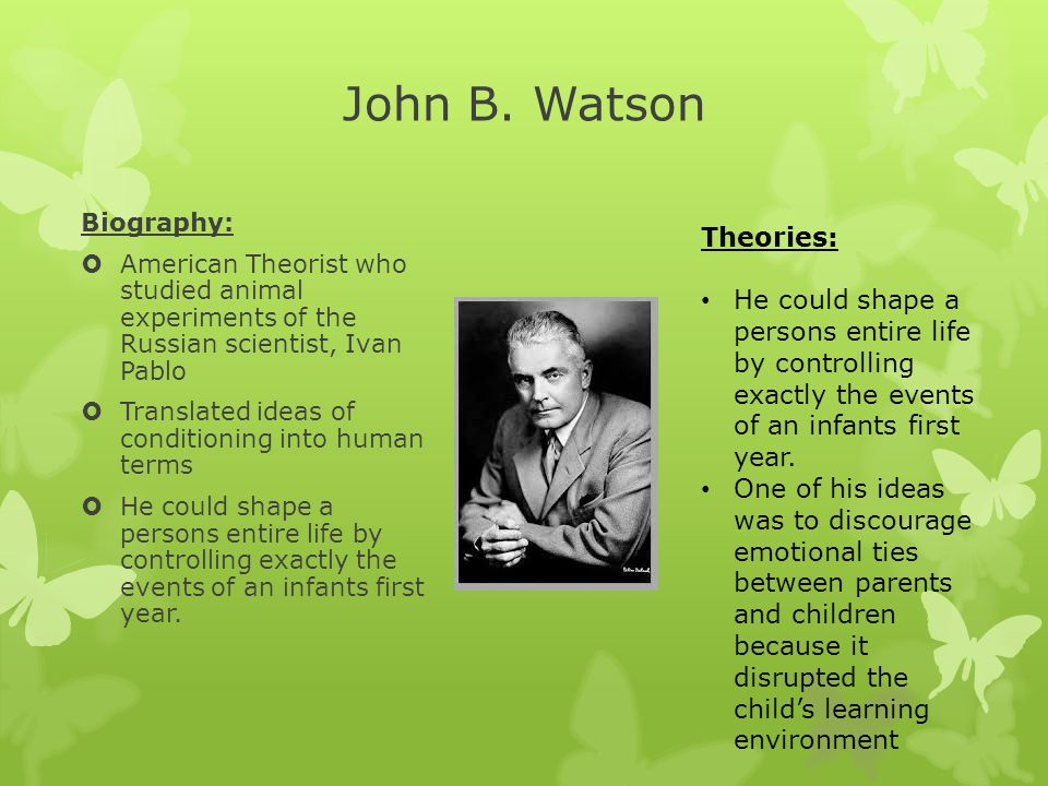 biography of john b watson essay