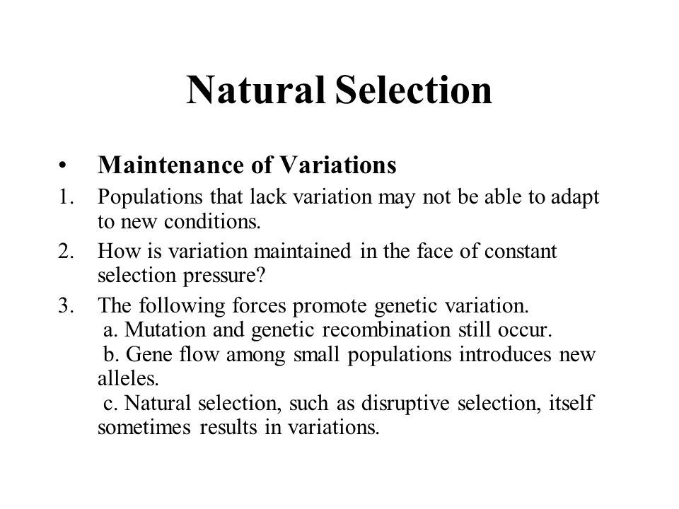 What Causes Natural Selection For Sickle Cell Disease