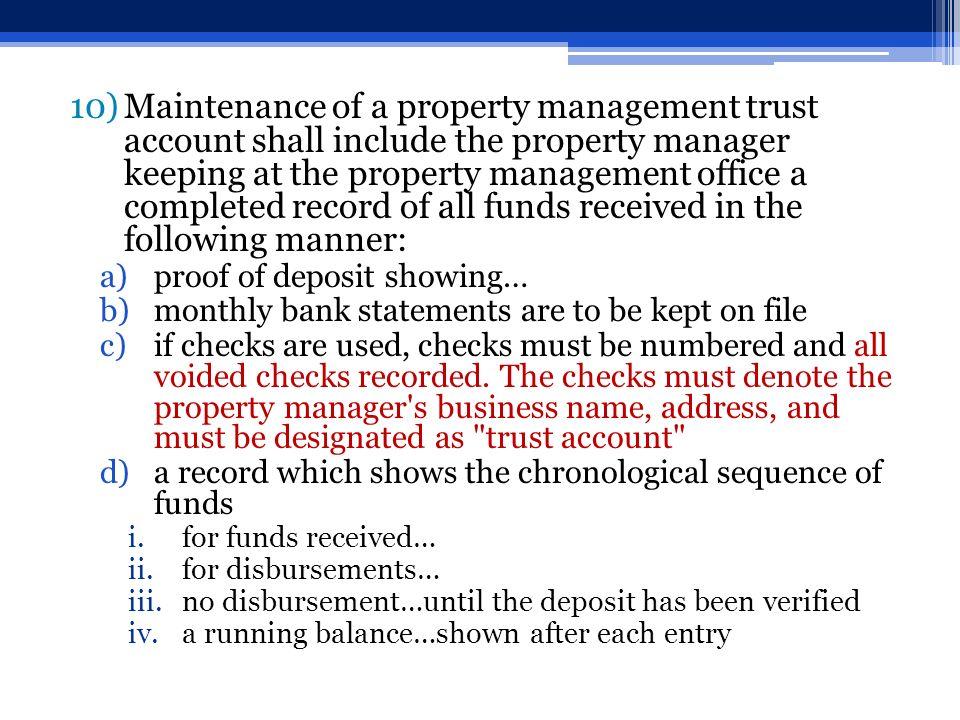 Owner S Ledger For Each Property Management Agreement