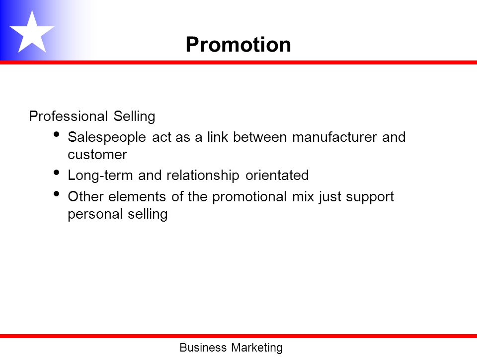 Promotion Professional Selling
