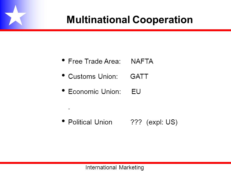 Multinational Cooperation