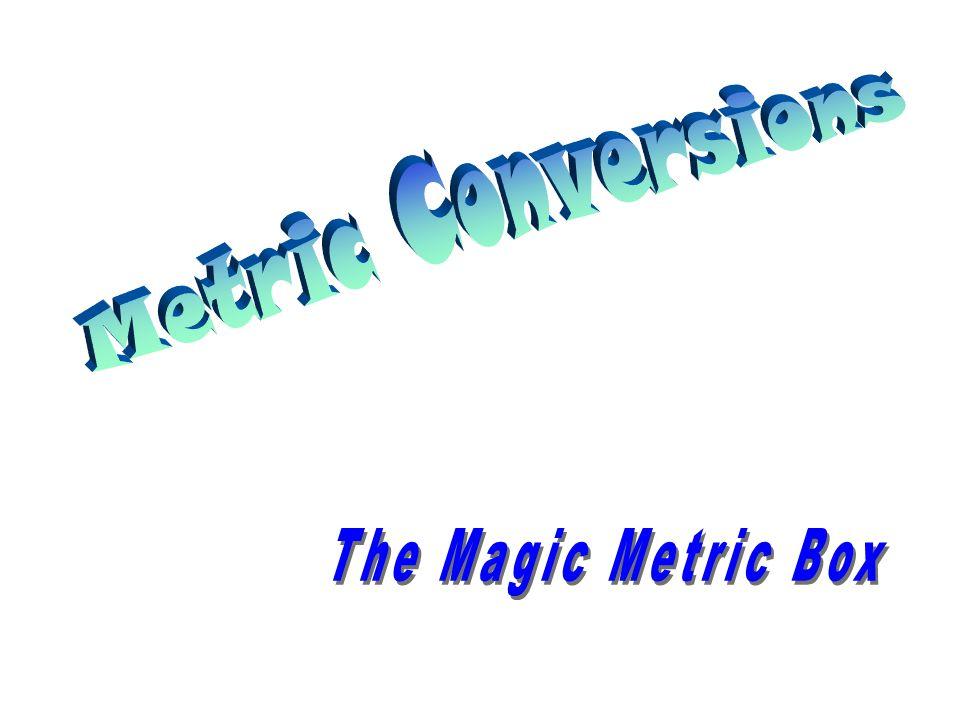 Metric Conversions The Magic Metric Box