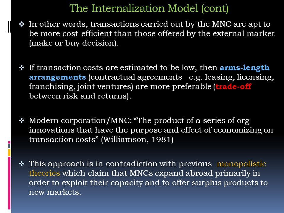 theories of international expansion of mncs In producing security,  he links the discussion to various theories of international  security policies and whether the economic benefits of expansion have been.
