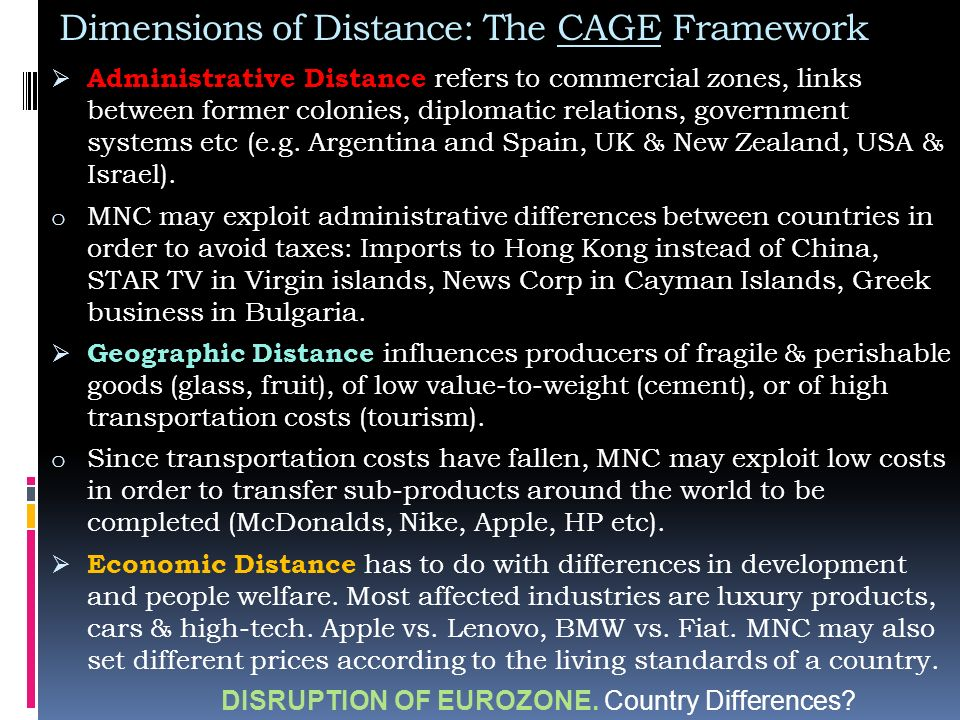 cage distance framework china Cultures: power distance,  in principle  there is a generalized framework that underlies the more apparent  hofstede: dimensionalizing.