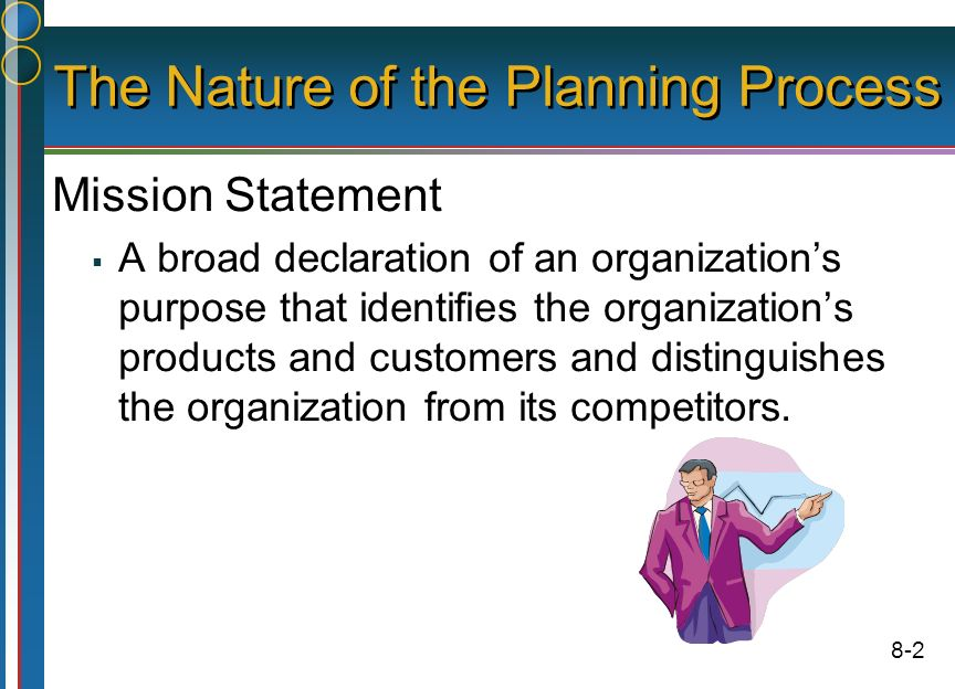Purpose of planning in an organization