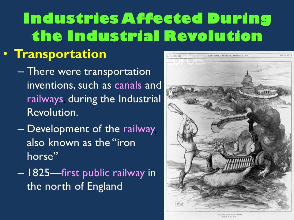 how the industrial revolution effected the The potential offered for all members of a new england family during the industrial revolution in america, for men, women, and even children, was not the only important paradigm shift that.