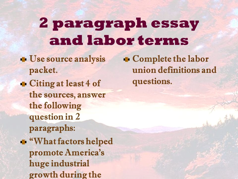 vocabulary use words in sentences ppt video online  2 paragraph essay and labor terms