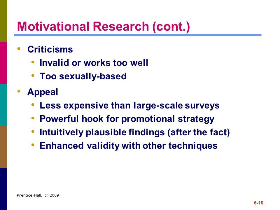 Motivational Research (cont.)