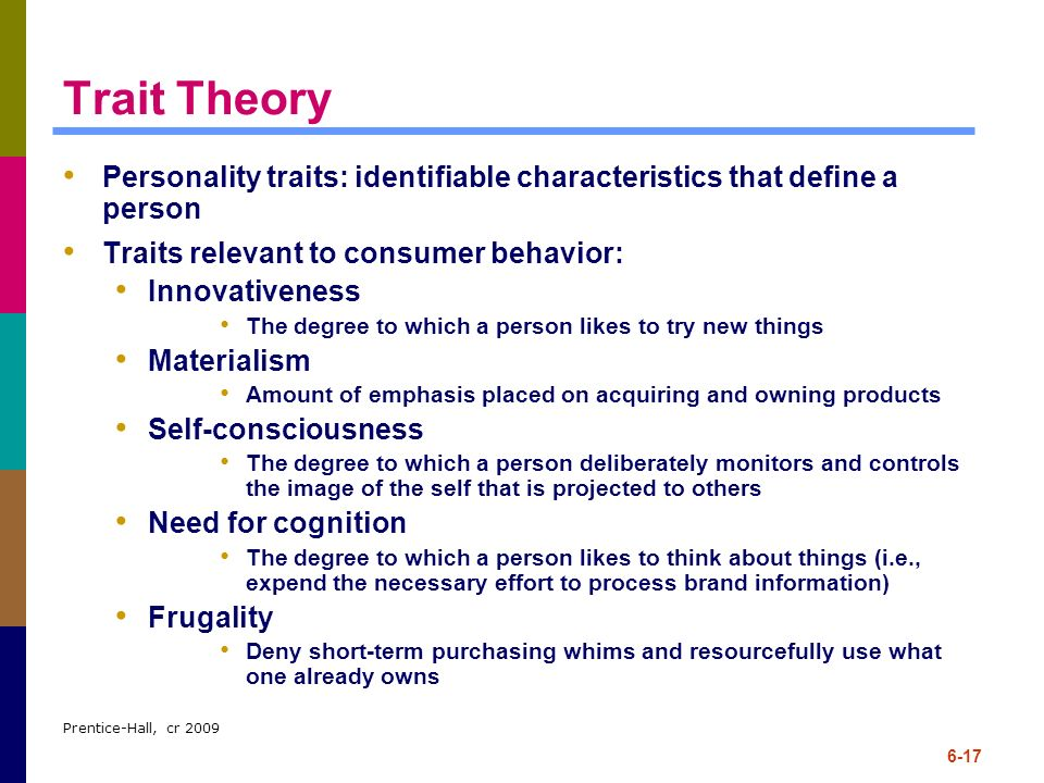 how useful is the trait approach Use 'trait theory' in a sentence the trait theory gave us some psychological insight into the behavior of the consumers in that region which we forwarded to our marketing team 19 people found this helpful.