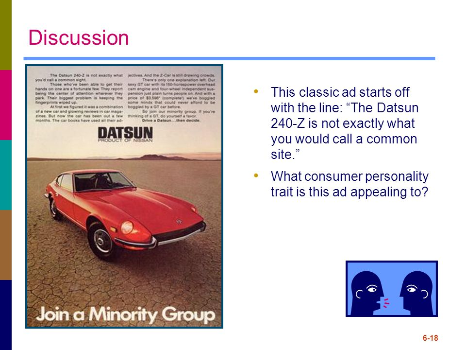 Discussion This classic ad starts off with the line: The Datsun 240-Z is not exactly what you would call a common site.